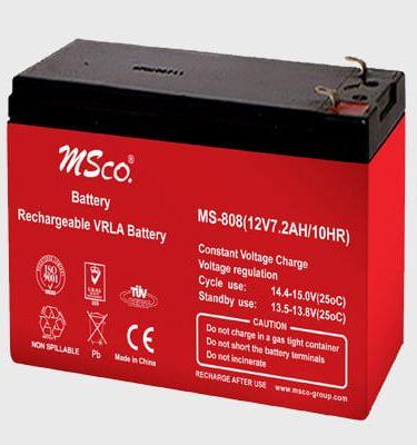 باتری 12 ولت 7.2 آمپر MSCO